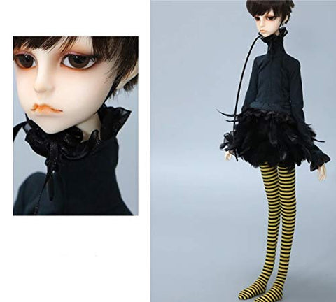 Fantasy Black Dress Cloth for 1/4 BJD SD MSD Doll