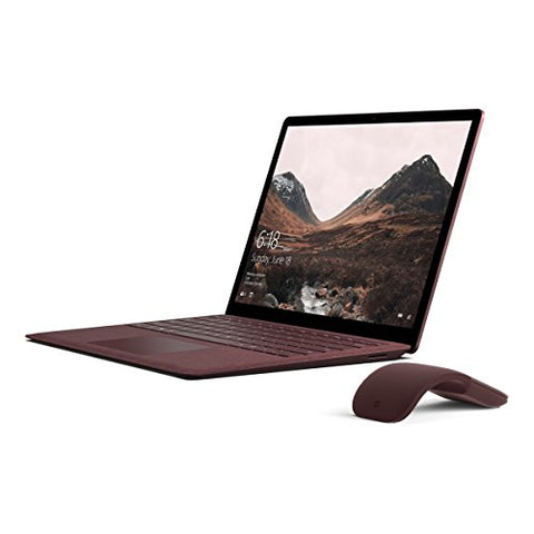 Microsoft Surface Laptop (Intel Core i5, 8GB RAM, 256GB) - Burgundy with Burgundy Mouse