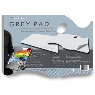"New Wave Grey Pad Hand Held Paper Palette 11""x16"""
