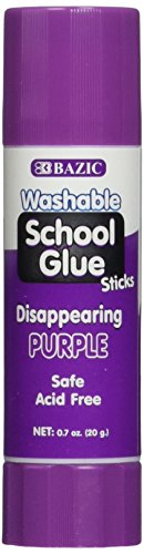 BAZIC 21g / 0.7 Oz. Large Washable Purple Glue Stick, Pack of 2 (2022)