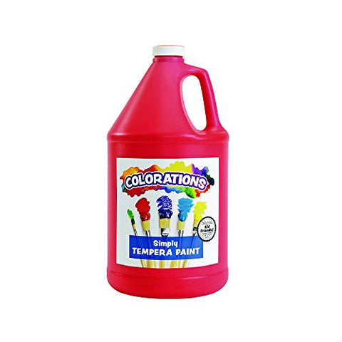 Colorations Tempera Paint, Gallon Size, Red, Non Toxic, Vibrant, Bold, Kids Paint, Craft, Hobby, Fun, Art Supplies (Item # GSTRE)