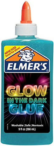 Elmer's Electrifying Glow-in-the-Dark Liquid Glue, Blue (2062234)