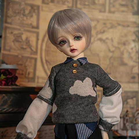 MEESock Lovely Boy BJD Doll 1/4 SD Dolls 16.7 Inch Ball Jointed Doll DIY Toys, with Clothes Shoes Wig Makeup, for Girls