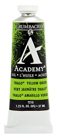Grumbacher Academy Oil Paint, 37ml/1.25 Ounce, Thalo Yellow Green (T210)