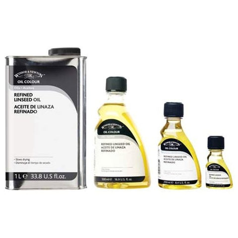 Winsor & Newton Refined Linseed Oil - 1 Liter Tin