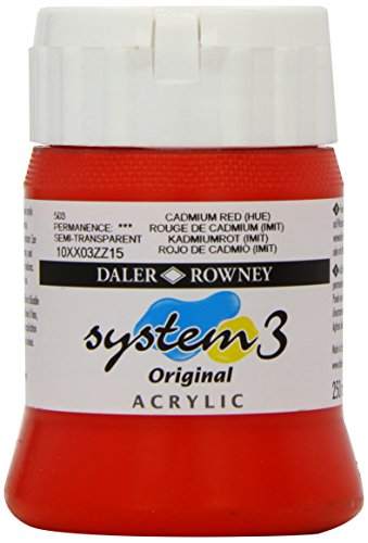 Daler - Rowney System 3 250ml Paint Ink Pot - Cadmium Red Hue