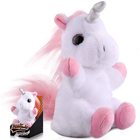 DANTENG Plush Interactive Toys, Talking Unicorns Will Repeat What You say, Electronic Pets for Boys and Girls, Small Animal Unicorn Friends can take it with You (Unicorns)