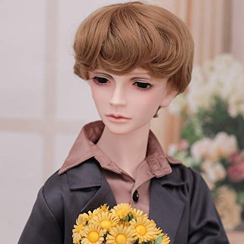 MEESock 62.5cm Exquisite Boy BJD Dolls 1/3 Fashion SD Dolls Cosplay Dolls Fullset Toy, with Clothes Shoes Wig Makeup, for Gift Collection Decoration