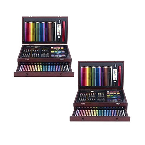 Art 101 142-Piece Wood Art Set (2 Sets)