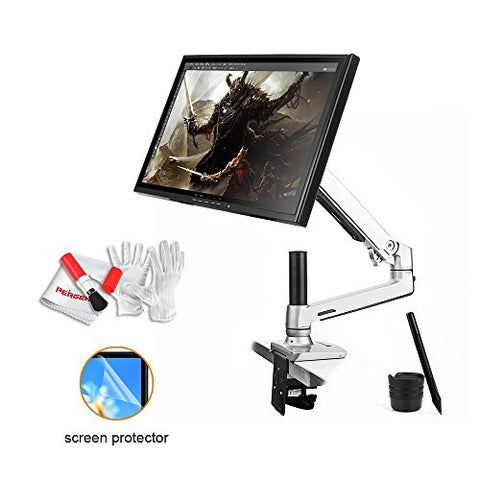 Ugee 19 Inch Graphics Pen Tablet Monitor with 360 Degree Desk Mount LCD Arm and Screen Protector