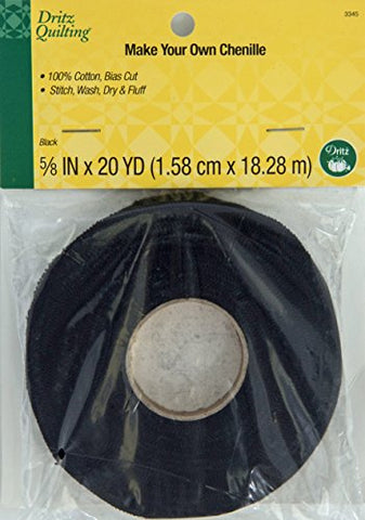 Dritz Quilting 3345 Make Your Own Chenille, 20-Yards, Black