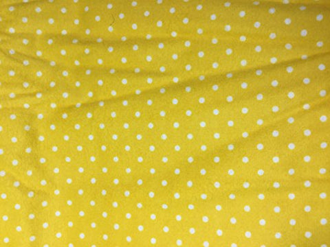 Yellow & White Polka Dots - Robert Kaufman - Cotton Flannel Fabric