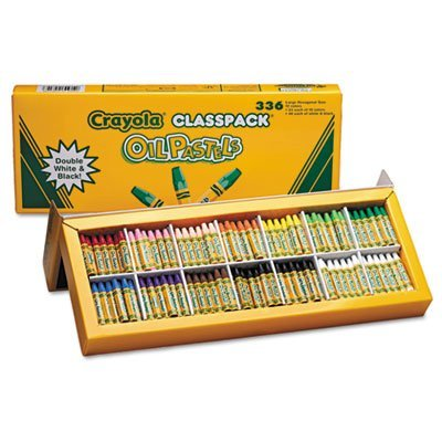 Oil Pastels,12-Color Set, Assorted, 336/Pack, Sold as 1 Package