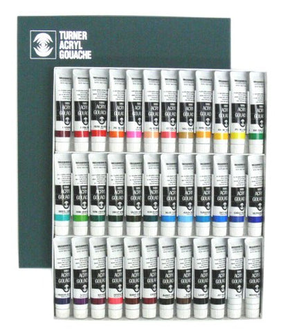 Turner Acryl Gouache Matte Acrylics Set of 36 20 ml Tubes