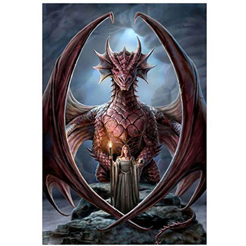 DIY 5D Diamond Painting Kit Full Dragon Goddess Diamond Embroidery Square Resinstone Cross Stitch Arts Craft Supply for Home Wall Decor