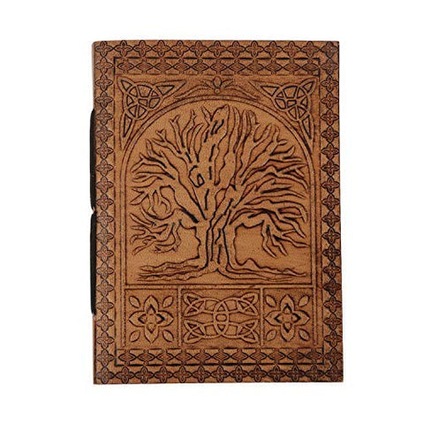 storeindya Leather Journal Travel Diary Antique Handmade Notebook for Women & Men Unlined Personal Organizers Sketchbook Doodle Rustic Writing Book Ledgers Office Gifts (7 x 5 -Tree of Life)