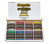 Crayola Construction Paper Crayons Bulk Classpack 160 Ct. Large Construction Paper Crayons in 8