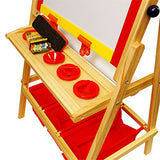 US Art Supply Flip-Over Children's Paint and Drawing Artist Easel with Child's Chalkboard, Dry