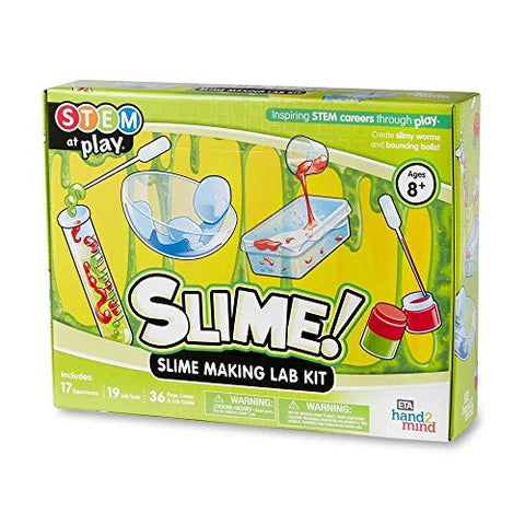 hand2mind SLIME! Slime Making Lab Kit For Kids Ages 8-12, 14 Science Experiments and Fact-Filled Guide, Make DIY Slimy Worms and Bouncing Balls, Educational Toys, Homeschool Science Kits