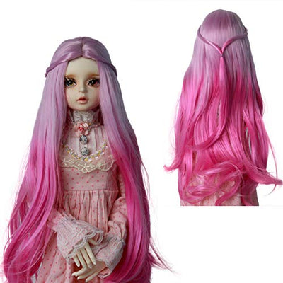 MUZIWIG 1/3 Bjd Doll Hair Wig High Temperature Long Straight and Curly Bjd Wig SD for 1/3 BJD Doll (06)