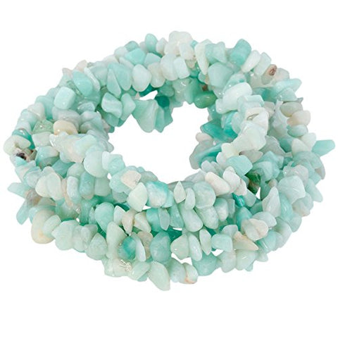 SUNYIK Amazonite Tumbled Chip Stone Irregular Shaped Drilled Loose Beads Strand for Jewelry