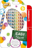 STABILO EASYcolors Colouring Pencils for Left-Handers Comfortable Grip with Sharpener - Assorted