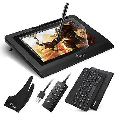 "Parblo Coast10 10.1"" IPS Graphic Tablet Drawing Monitor Display Painting with Cordless Battery-free"