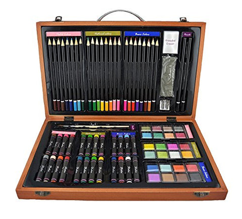 Strokes Art Supplies Deluxe Art Set for Drawing and Painting (80-Piece)