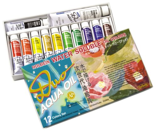 Holbein Duo Aqua Water-Soluble Oil Color AP Set of 12 20 ml Tubes