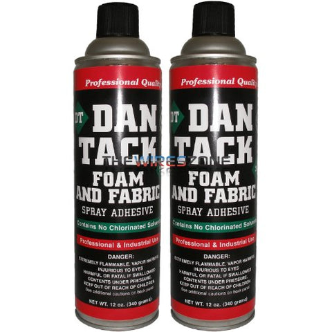 Dan Tack 2012 Professional Quality Foam & Fabric Spray Adhesive Can 12 oz (pair)