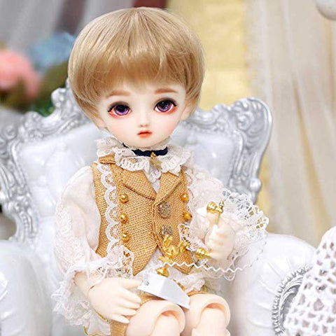 ZDD BJD Doll 1/6 26CM 10.23 Inch Ball Joints SD Dolls with Clothes Shoes Wigs Makeup Children's Creative Toys Christmas Best Gift