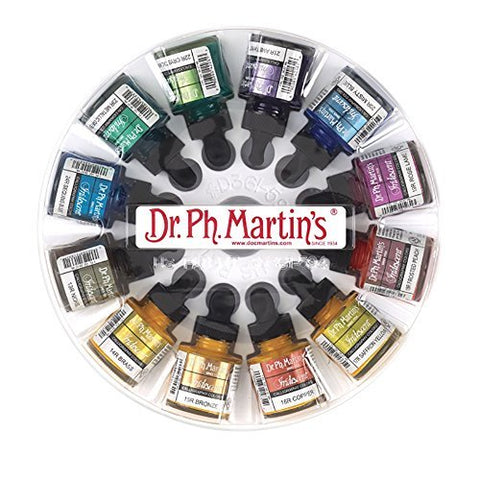 Dr. Ph. Martin's Iridescent Calligraphy Color, 1.0 oz, Set of 12 (Set 2)