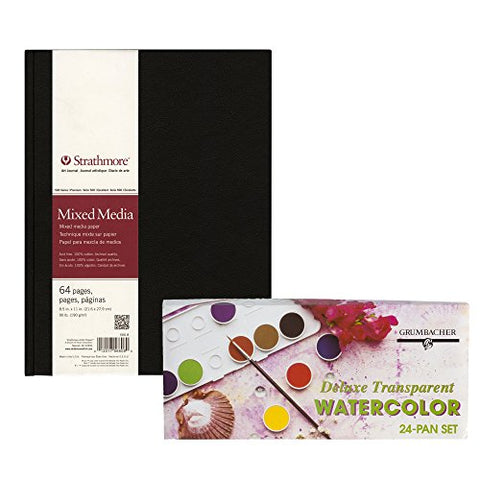 Strathmore Mixed Media Art Journal with Grumbacher Transparent Watercolor Set