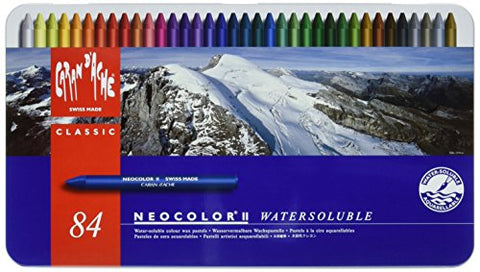 Caran d'Ache Classic Neocolor II Water-Soluble Pastels, 84 Colors