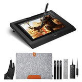 "Parblo 10.1"" Coast10 Graphics Drawing Tablet LCD Monitor with Cordless Battery-free Pen +Wool Liner"