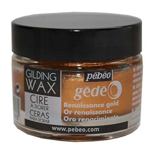 Pebeo Gedeo Gilding Paper Craft Wax 30ml Tub Pot - Renaissance Gold