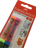 Faber-Castell 0.5mm 2B Black Polymer Mechanical Pencil Lead Refills (4 tubes, 20 Leads Per tube)