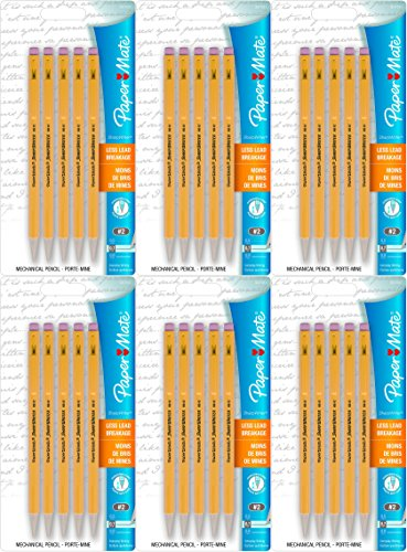 Papermate Mechanical Pencils 0.7 Mm (6 packages of 5 pencils each - 30 total quantity)