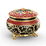 Bradford Exchange Clara and The Nutcracker Heirloom Porcelain Music Box by The