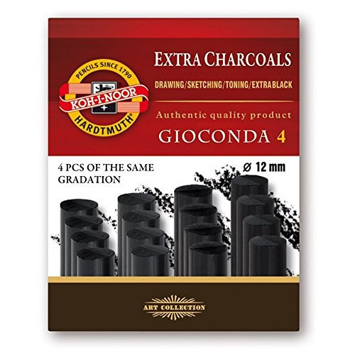 Koh-I-Noor Gioconda 8694 Artificial Extra Charcoals Pack of 4 Hard