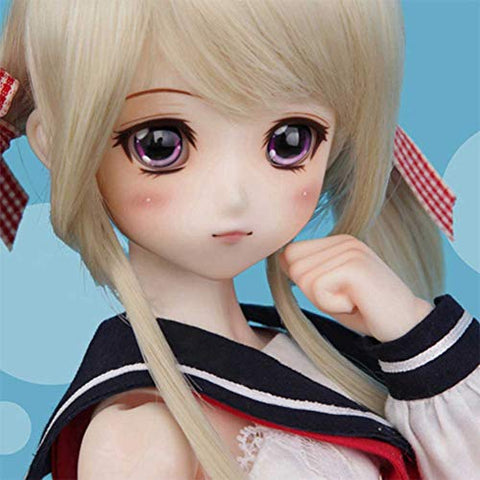 ZDD 1/4 SD BJD Doll 40Cm/16inch Dolls Surprise Gift with Full Set Clothes Shoes Wig Makeup DIY Toys for Birthday
