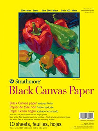 Strathmore STR-310-209 10 Sheet Black Canvas Pad, 9 by 12""