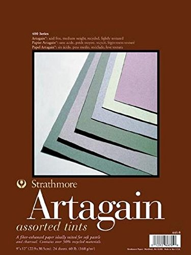 Strathmore STR-445-9 24 Sheet Assorted Art Again Pad, 9 by 12""