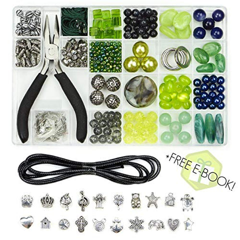 Très Chic Jewelry Making Supplies Kit - Unique Beads, Stylish Charms, eBook with Step-by-Step Craft