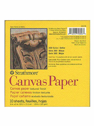 Strathmore 300 Series Canvas Pads 6 in. x 6 in. 10 sheets [PACK OF 6 ]