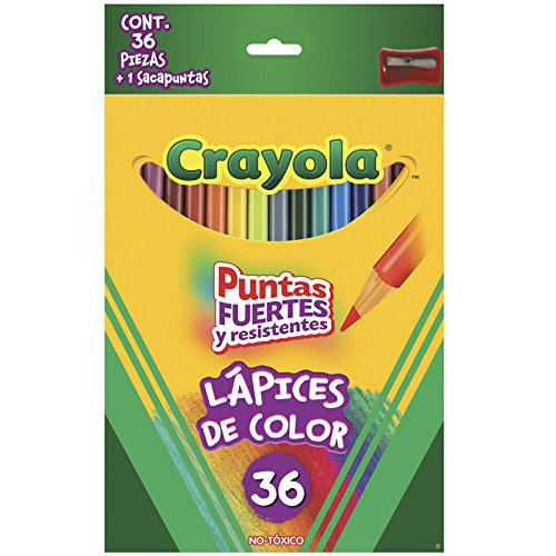 Crayola Colored Long Pre-sharpened Pencils (Great For Adult Coloring) - 36 Ea