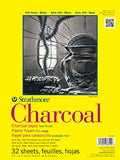 "Strathmore 330-9 300 Series Charcoal Pad, White, 9""x12"" Wire Bound, 32 Sheets"