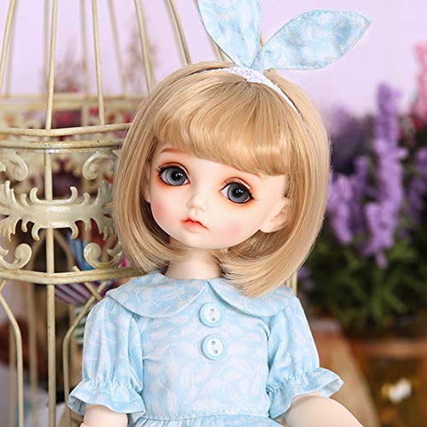 DIY Doll Toys BJD Dolls 1/4 SD Doll 15.7 Inch with Full Set Clothes Shoes Wig Makeup, Best Gift for Girls MIU RL Holiday,White Skin
