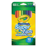 Crayola 588610 Washable Super Tips Markers, Assorted, 10/Pack