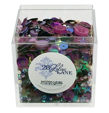Vineyard Hues Shaker Mix 60 grams Sequins Buttons Seed Beads